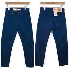 New Levi's Kids 514 Straight Stretch Jeans Pants Size 12 Boys Blue Denim