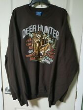 WHITETAIL DEER - Brown Outdoors Buck Hunting Sweatshirt, Mens 2XL
