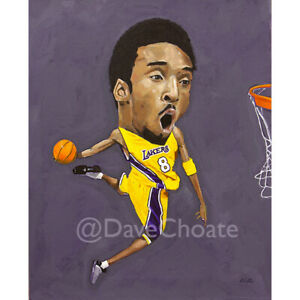 Kobe Bryant, Los Angeles Lakers Original Painting - Acrylic on Canvas