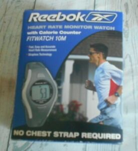 Reebok Heart Rate Monitor Watch Calorie Counter Fitwatch 10M