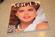 1980 Vogue Paris Fashion Magazine Brooke Shields Debbie Dickinson Klein Ads