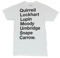 Harry Potter Mens T-Shirt  - Quirell, Lockhart, Snape & More Teachers Word Log