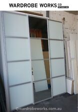 3 Built-In Wardrobe Sliding Doors *Made to Measure*Up to 3600wide FROSTED/MIRROR