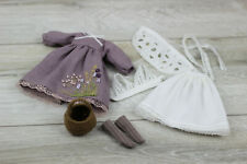 Blythe doll Dress lilac Shirt Petticoats Hair band white Socks Bag outfit clothe