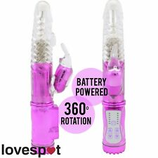 NEW Purple Rabbit Vibrator/Dildo GSpot Clit Sex/Adult Toy Battery Operated