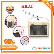 Akai Bluetooth DAB Retro Radio in Cream - A60016CN