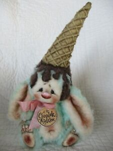 Primitive 'Chocolate Mint Cone' Bunny Rabbit Doll Made By Patti's Ratties