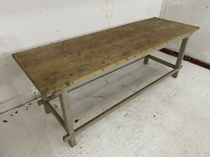 French Framhouse Dining Table, 200cm Long, Vintage, Rustic
