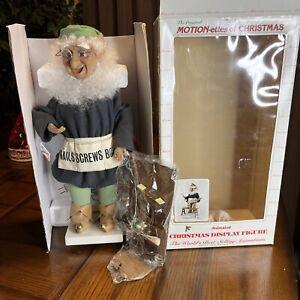 Telco MOTION-ettes of Christmas Animated SANTA'S HELPER elf Table New Open Box