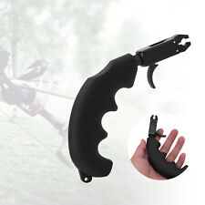 Black Handle Thumb Caliper Compound Bow Arrow Grip Archery Release Aids AF