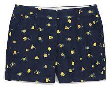 "J.Crew Mercantile - Women's 12 - NWT - 5"" Navy/Yellow Lemon Print Chino Shorts"