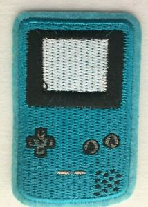 Iron-on / Sew-on Patch - Nintendo Game Boy Color - Teal Blue 6.9 x 4.5cm