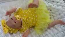 SUNBEAMBABIES NEW CHILDS CE TESTED BROWN EYED REBORN BABY GIRL NEWBORN DOLL