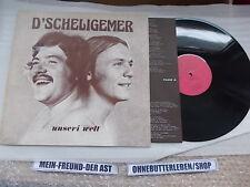 LP Folk D'Scheligemer - Unseri Welt (12 Song) OMEGA STUDIO + org Insert