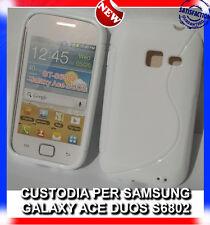 Pellicola + Custodia cover case WAVE BIANCA per Samsung Galaxy Ace Duos S6802