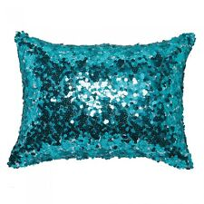 LOGAN and MASON Tivoli Aqua Sequins Decorative Filled Brunch Cushion Brand NEW