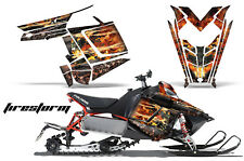 Sled Graphics Kit Decal Sticker Wrap For Polaris Pro RMK Rush 11-16 FIRESTORM K