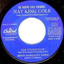 """7"""" - NAT KING COLE - LA FERIA DE LAS FLORES + 3 (DE NUEVO COLE ESPAÑOL) LISTEN"""