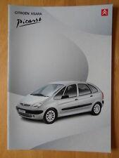 CITROEN XSARA PICASSO Range 2001 UK Market Sales Brochure