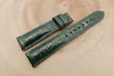 19mm/16mm Green Genuine CROCODILE, ALLIGATOR Skin Leather Watch Strap Band