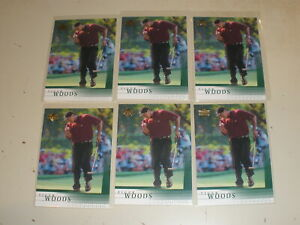 Lot of 6 - 2001 Upper Deck Golf Rookie #1 Tiger Woods RC