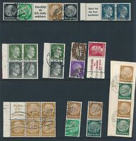 Lot Stamp Germany WWII 3rd Reich Hitler Se Tenants Hitler Hindenburg Used