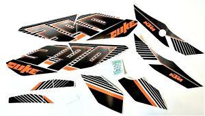 VINYL STICKER SET.  REPLICA / COPY  FITS THE KTM MOTORBIKE DUKE 390