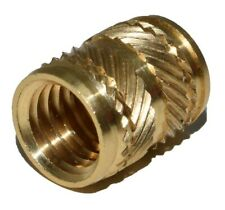 THREADED INSERT SYMMETRICAL BRASS HEAT INSERT KNURLED FOR PLASTIC M3 M4 M5 M6