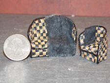 Dollhouse Miniature Sofa & Chair Black 1:48 Quarter Scale 1/4 K28 Dollys Gallery