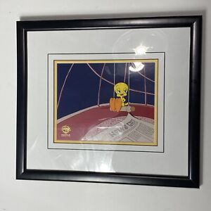 Tweety Bird Warner Bros. Framed Production Art 1994 vintage
