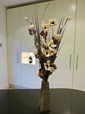 Cream & Natural floral Display in Free wood vase Conservatory Gift weddings