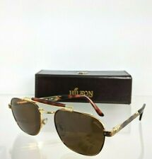 Brand New Authentic HILTON LONDON Sunglasses 928 C 077 YG 54mm 24KT Gold Frame