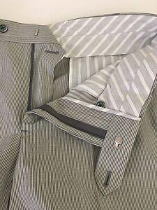 Brooks Brothers Black Fleece Thom Browne Mens Blue & White Wool Pants 34 (32x29)