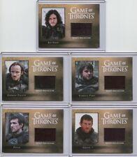 2016 Game Of Thrones Season 5 Night's Watch Relic set CC1-CC5 (5 cards) /250