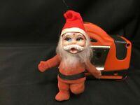 Vintage Velvet Flocked Santa Elf
