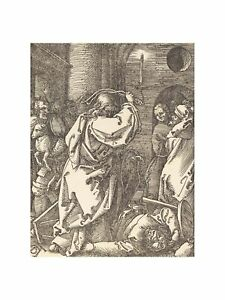 A. Durer -Christ Expelling the Moneylenders from the Temple 1510 Print 60x80cm