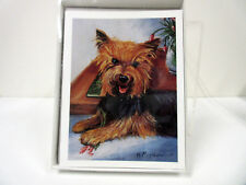 New Yorkshire Terrier Dog Boxed Note Card Set 6 Note Cards with Envelopes