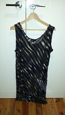 Tres belle black/grey long sleeveless tunic  Size 18 brand new with tags