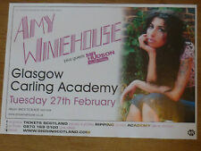 Amy Winehouse - Glasgow feb.2007 concert tour gig poster