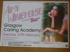 Amy Winehouse live music memorabilia - Glasgow feb.2007 concert tour gig poster