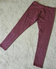 Girls Pink Black Striped Leggings Age 3 Years