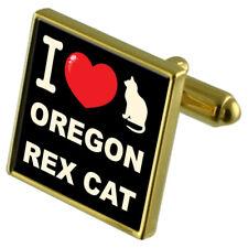Me encanta mi Gato Tono Dorado Gemelos Dinero Clip Oregon REX CAT