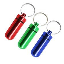 3x Camping & Outdoor Tablettendose / Pillendose Schlüsselanhänger wasserdicht
