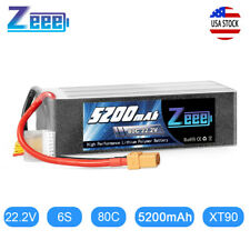 Zeee 22.2V 80C 5200mA 6S LiPo Battery XT90 for Helicopter Drone Quad Car Plane