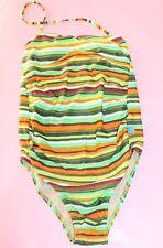 Mama Beach Designer Maternity Multi Striped One Piece Size S NEW