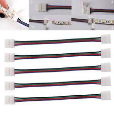 5x RGB LED Strip Schnell Verbinder Kabel Adapter 4 Pin 5050 Stecker Licht Leiste