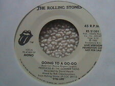 """ROLLING STONES """"GOING TO A GO-GO"""" 7"""" 45 WHITE LABEL PROMO 1982"""