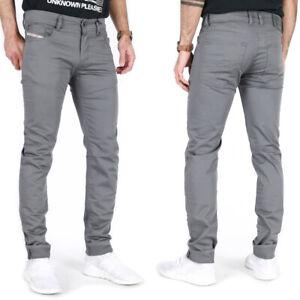 Diesel Mens Slim Skinny Fit Tapered Stretch Jeans Pants Gray - Troxer Grey