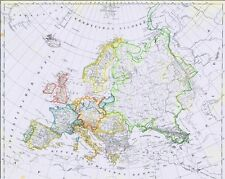 Echte 173 Jahre alte Landkarte EUROPA und der Deutsche Bund Deutsches Reich 1844