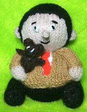 Knitting Pattern-MR BEAN And Teddy ispirato cioccolato cover arancione o 14 CMS TOY